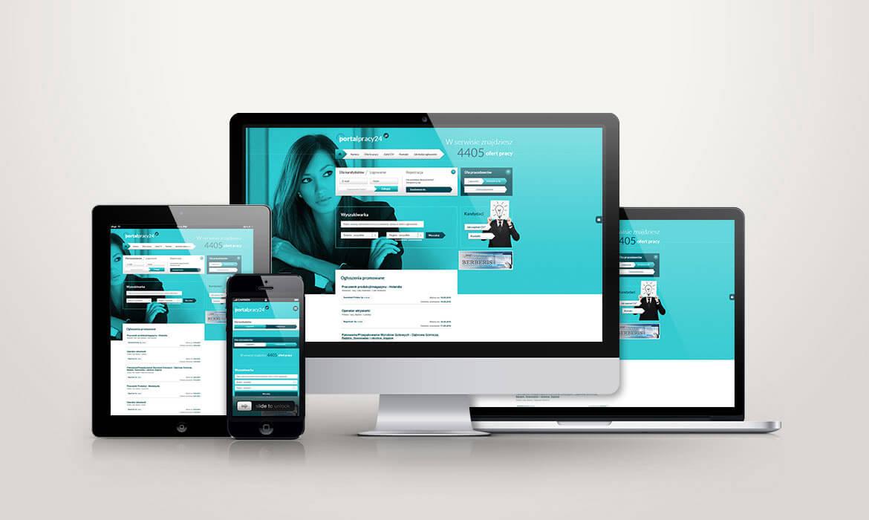 PortalPracy24.pl - widok na urz?dzeniach mobilnych